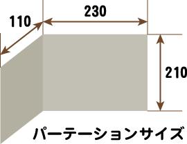 パーテーションのサイズ